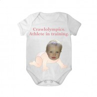 short sleeves babygrow white crawlolympic girl