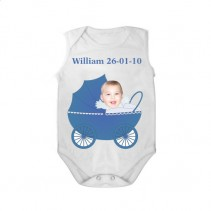 sleeveless baby bodysuit white pram boy