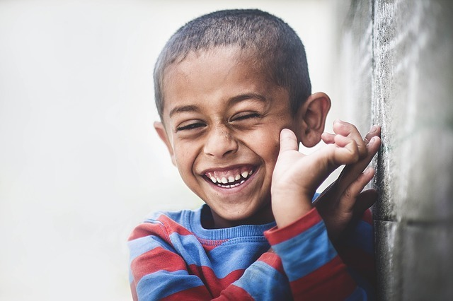 laughing boy from africa
