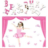 personalised birthday ballerina jigsaw
