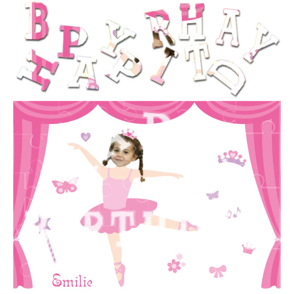 personalised birthday ballerina jigsaw