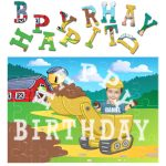 personalised birthday digger jigsaw