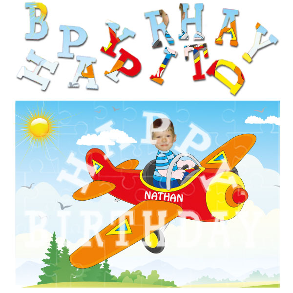 personalised birthday pilot jigsaw