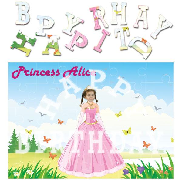 personalised birthday princess jigsaw