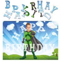 personalised birthday superheroes flyboy jigsaw