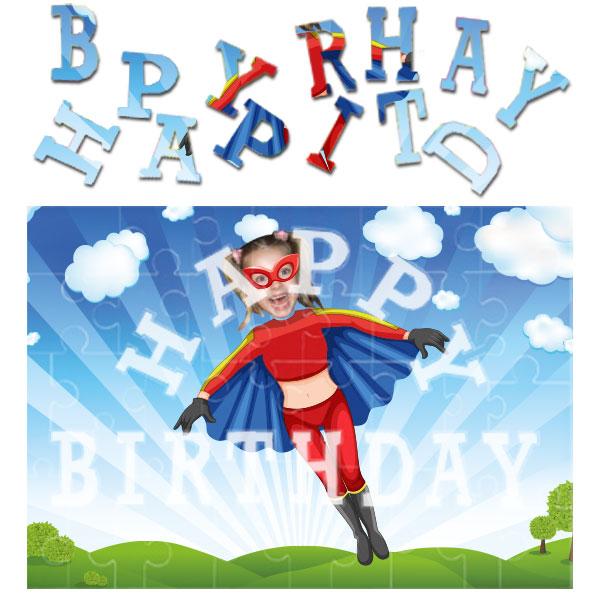 personalised birthday superheroes flygirl jigsaw