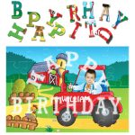 personalised birthday tractor jigsaw