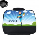 personalised lunch bag photo superheroes fireboy
