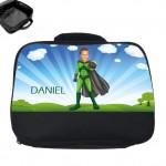 personalised lunch bag photo superheroes flyboy