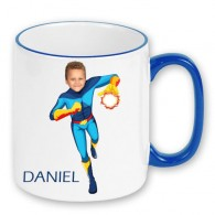 personalised mug superheroes fireboy photo gift