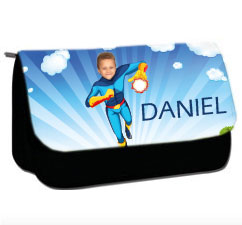 personalised pencil case superheroes fireboy