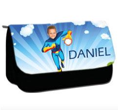 personalised pencil case superheroes fireboy