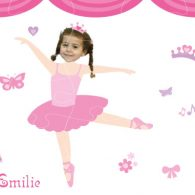 personalised wooden jigsaw ballerina