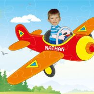 personalised wooden jigsaw pilot