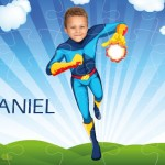 personalised wooden jigsaw superheroes fireboy