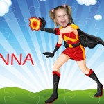 personalised wooden jigsaw superheroes firegirl