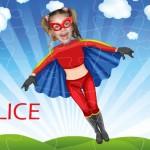 personalised wooden jigsaw superheroes flygirl