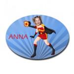 personalised door plaque gift superhero firegirl