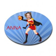 personalised door plaque gift superhero firegirl