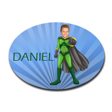 personalised door plaque gift superhero flyboy