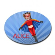 personalised door plaque gift superhero flygirl