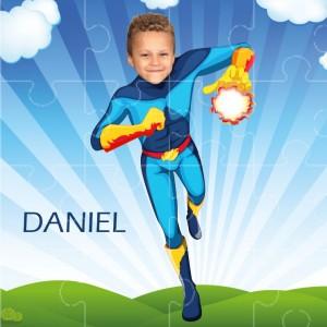 personalised jigsaw superheroes fireboy