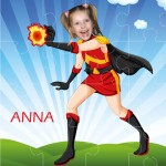 Photo Jigsaw - FireGirl Superheroes