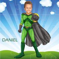 personalised jigsaw superheroes flyboy