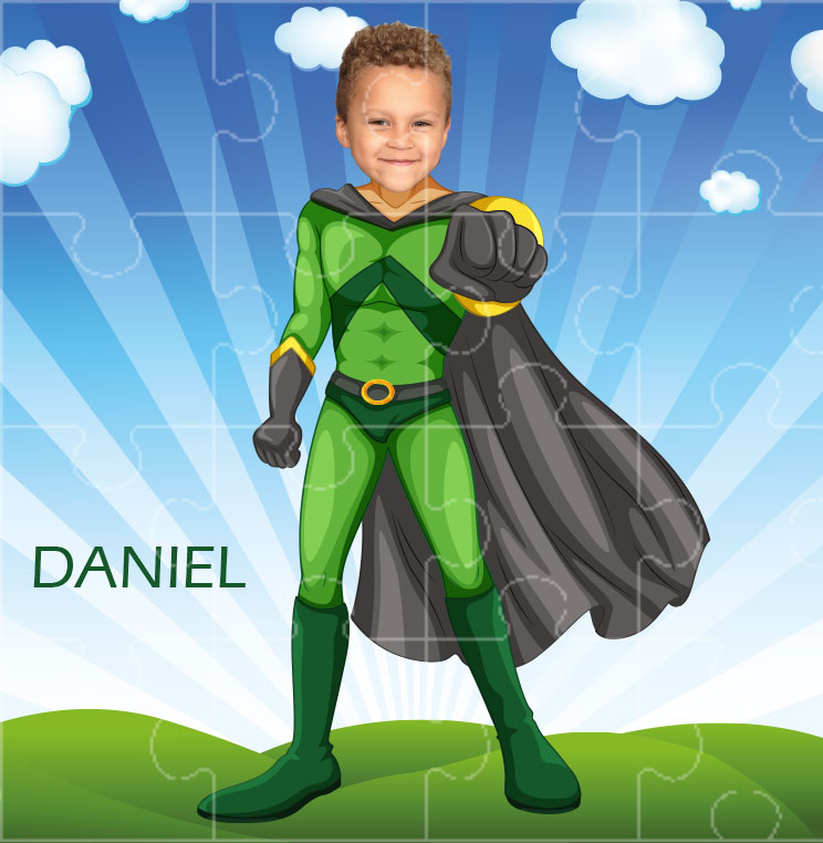 personalised jigsaw superheroes flyboy
