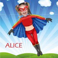 personalised jigsaw superheroes flygirl