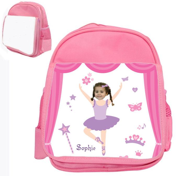 personalised bag ballerinaB pink
