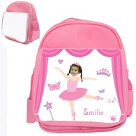 personalised bag ballerina pink