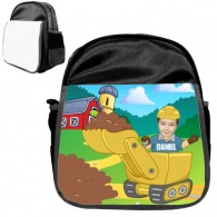 personalised bag digger black