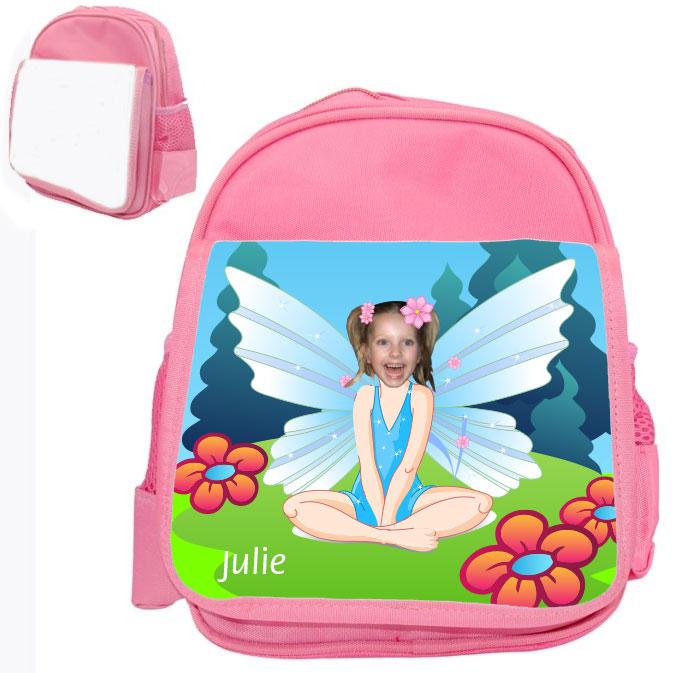 personalised bag fairy pink