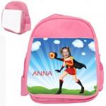 personalised bag firegirl pink