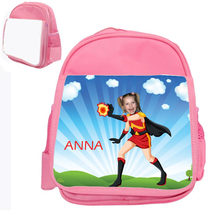 personalised bag firegirl pink