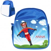 personalised bag flygirl blue