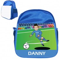 personalised bag football shoot score blue