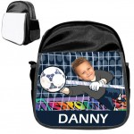 personalised bag goalie black