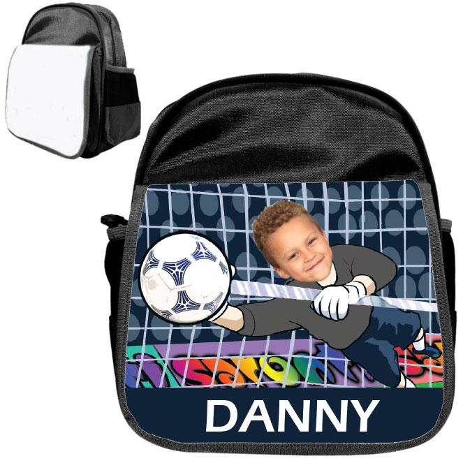 personalised bag goalie black