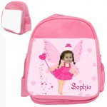 personalised bag pinkfairy pink