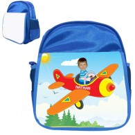 personalised bag plane blue