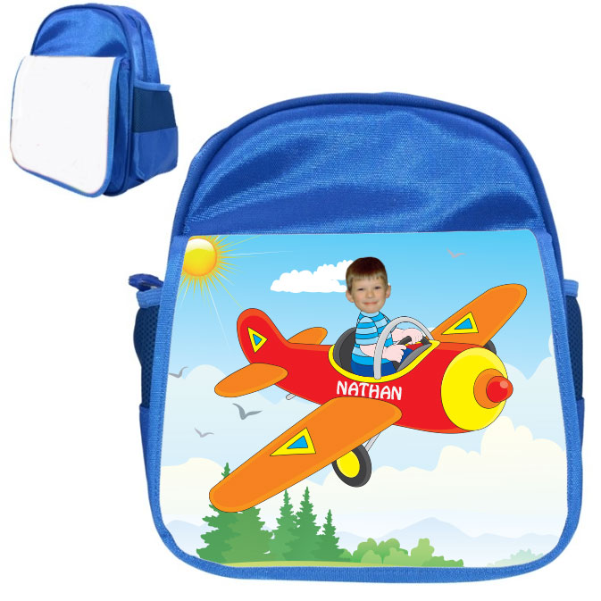 personalised bag plane blue
