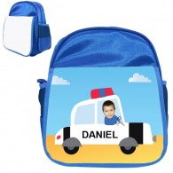 personalised bag police car blue