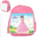 personalised bag princess pink