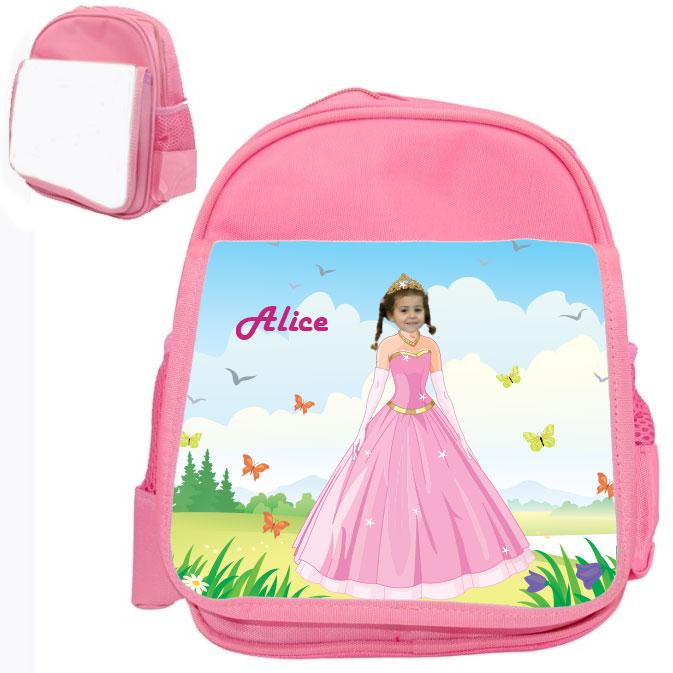 personalised bag princess pink