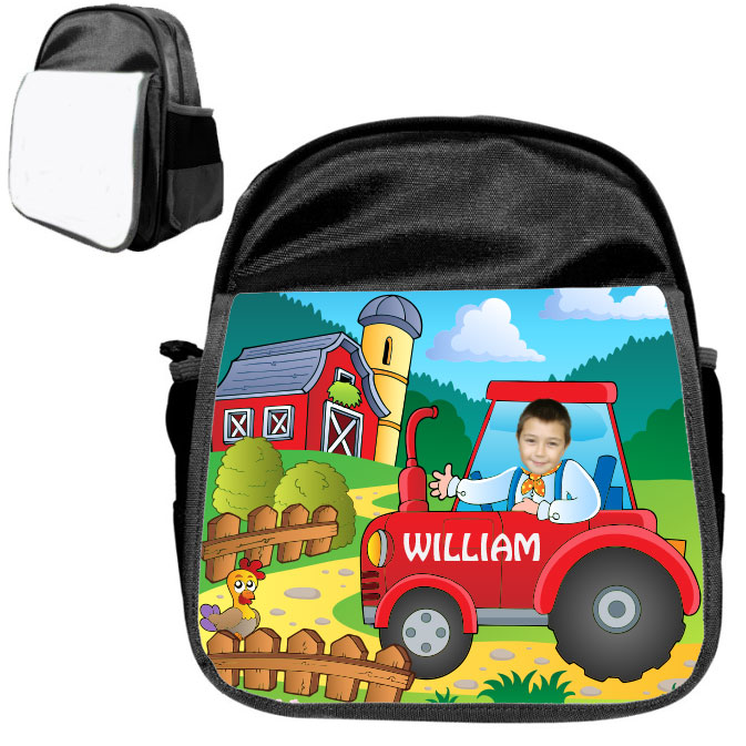 personalised bag tractor black