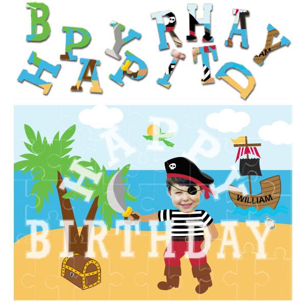 personalised birthday pirate jigsaw