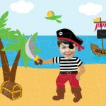 personalised wooden jigsaw pirate