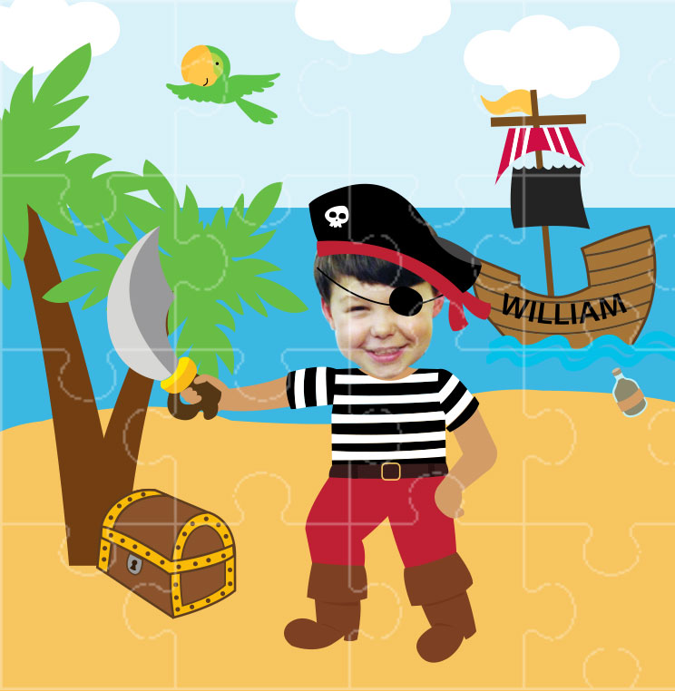 personlalised jigsaw pirate